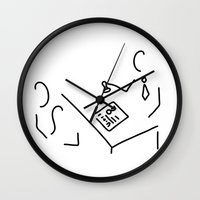 lawyer Wall Clocks featuring notary public lawyer by Lineamentum