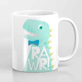 Cute Dinosaur Bow Tie Illustration | RAWR Coffee Mug