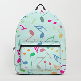Music Colorful Notes Backpack