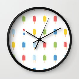 Popsicle Pattern - Bright Random Pops #609 Wall Clock
