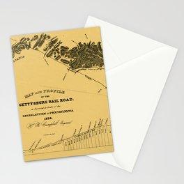 Gettysburg Railroad 1839 Stationery Cards