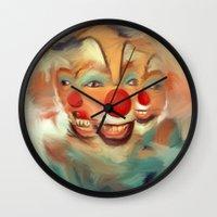 clown Wall Clocks featuring clown by robotrake