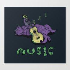 Ukulele Cat Canvas Print