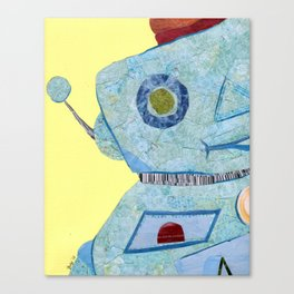 It's a robot world and we're just living in it Canvas Print