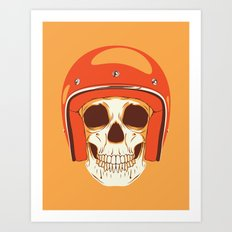 Helmet Skull Art Print