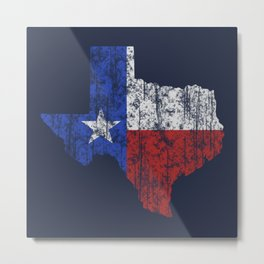 Texas Vintage Metal Print