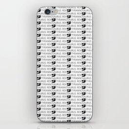 T-Rex Pattern (Black & White) iPhone Skin