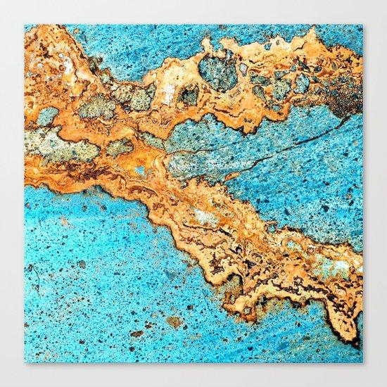 Aqua & Gold Canvas Print