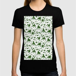 Winter Cats in Hats - Green T-shirt