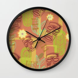 Happy Hour At The Tiki Room Wall Clock