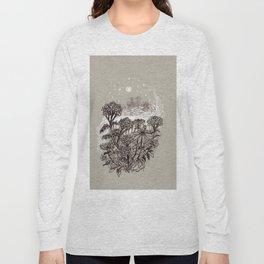 Yarrow and Zinnia Meadow Shrouded in Mist Long Sleeve T-shirt