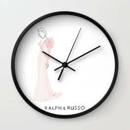 Rose dress Wall Clock