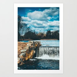 Waterfall afternoon Art Print