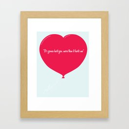 """""""Its gonna hurt you, more than it hurts me"""" Framed Art Print"""