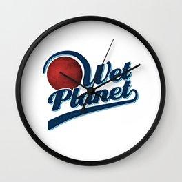 Wet Planet Gift Wall Clock