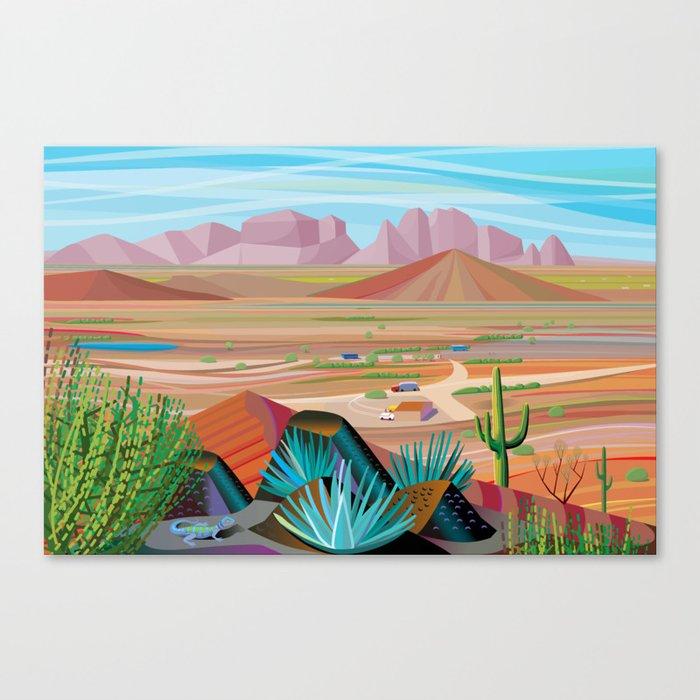 La Pimeria, West Phoenix Canvas Print