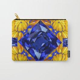 BLUE SAPPHIRES GEM ART & GOLDEN MUMS Carry-All Pouch