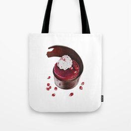Little cake with pomegranate Tote Bag