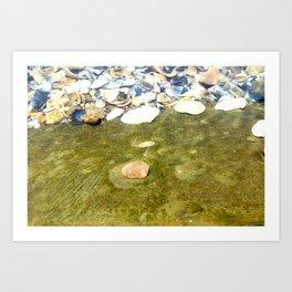 Ostra en el fondo del agua Art Print