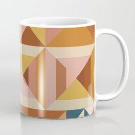 Modern Triangle Quilt Blocks Coffee Mug