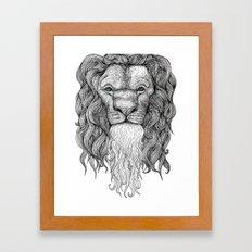 Gentleman Lion Framed Art Print