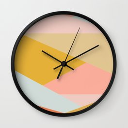 Large Triangle Pattern in Soft Earth Tones Wall Clock