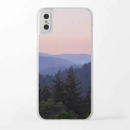 Sunset in the Santa Cruz Mountains Clear iPhone Case