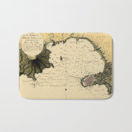 Map Of Montevideo 1789 Bath Mat