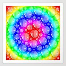 Water Rainbow Art Print
