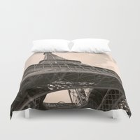 eiffel tower Duvet Covers featuring Eiffel Tower by ib photography