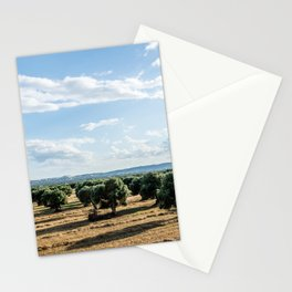 Olive trees in the countryside near the medieval white village of Ostuni Stationery Cards