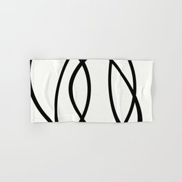 Community - Black and white abstract Hand & Bath Towel