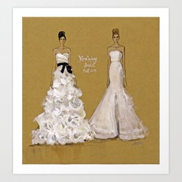 Vera Wang Bridal Illustration Art Print