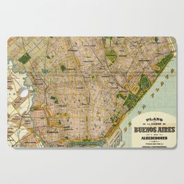 Vintage Map of Buenos Aires Argentina (1921) Cutting Board