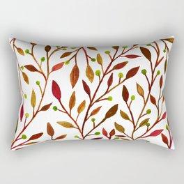 Leafs and fruit fall color scheme Rectangular Pillow