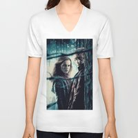 hermione V-neck T-shirts featuring H. Potter - Hermione & Ron by Juniper Vinetree