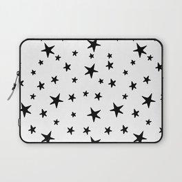 Stars - Black on White Laptop Sleeve
