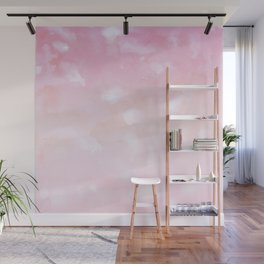 Touching Pink Coral Abstract Painting #1 #ink #decor #art #society6 Wall Mural