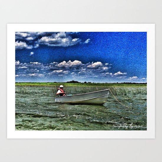 Lil White Boat 1 Art Print