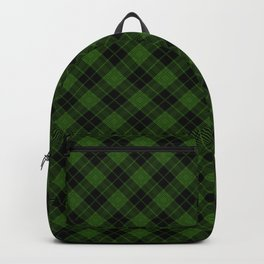 tweedy_green on black Backpack