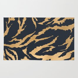 Tiger Fur Pattern (Navy & Gold) Rug