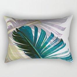 Botanical Banana leaf print Rectangular Pillow