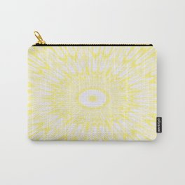Lemon Yellow Kaleidoscope Carry-All Pouch