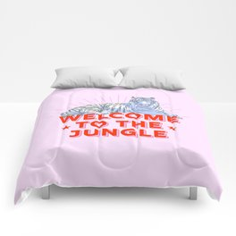 welcome to the jungle - retro tiger Comforters