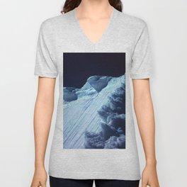 NATURE'S WONDER #2 - Glacier in the dark #art #society6 Unisex V-Neck