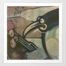Penguin Graffiti Art Print