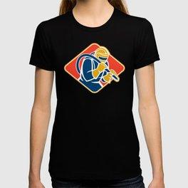 Sandblaster Sandblasting Hose Retro T-shirt
