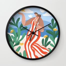 Frolicking Wall Clock