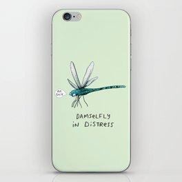 Damselfly in Distress iPhone Skin