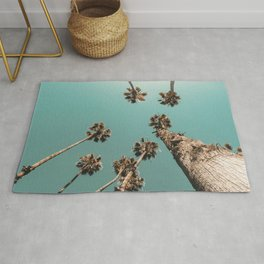 {1 of 2} Palm Trees = Happy // Teal Summer Sky Rug